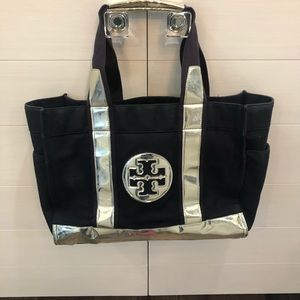 Tory Burch Navy/Silver Tote